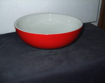 Hall's Superior Quality Kitchenware  Bowl--RED