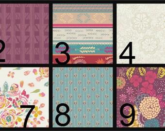 Crib Blanket, Crib Bedding, Crib Quilt, Baby Bedding, Reversible Baby Quilt, purple, orange, blue, pink
