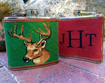 Custom Needlepoint Flask
