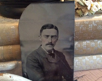 He's A Dapper Dude With Rosy Cheeks Antique Tintype Photo