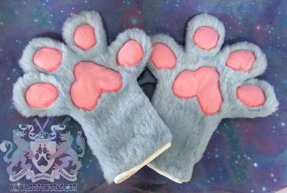 Custom Paw Gloves - Four Finger - Made to Order, You Choose Colors!