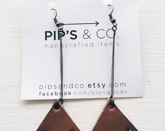 Leather triangles.