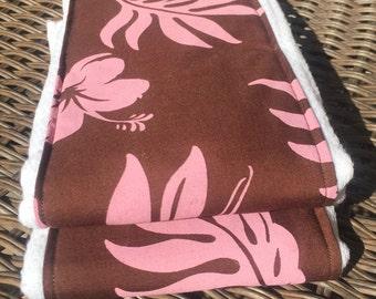 Pink Hawaiian Burp Cloths