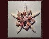 "RESERVED-RK Starfish Sea Shell Keepsake Ornament Accent #120 (Size 7""), Beach/Nautical/Coastal Decor, Keepsake Ornament/Wall Accent"