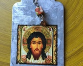 Jesus, the Holy Face Icon Image Pendant