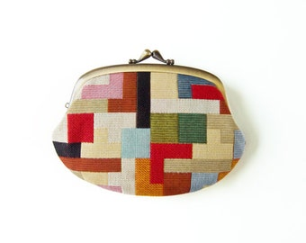 Swedish Mosaic  Compartment Purse Wallet