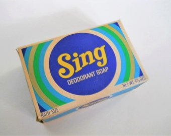 Vintage Sing Soap - 1960s Deodorant Soap - Funny Gift for a Musician - Purex Brand Bath Soap - NOS Drugstore Collectible