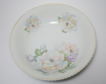Antique German Porzellanfabrik Koenigszelt Silesia Peonie Porcelain Bowl, PK Silesia Germany, PK Silesia Porcelain, German Porcelain
