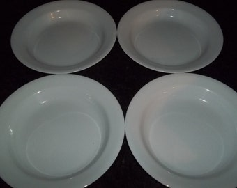 4 Corelle Just White Rimmed Cereal Bowls