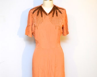 1940s vintage beaded dress size aprox medium