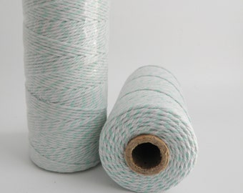 MINT GREEN Thick Bakers Twine (12 ply)- 100 yd spool- Packaging, Gift Wrap, Baking Parties
