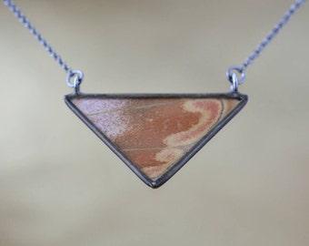 Atlas Moth - Classic Triangle Necklace
