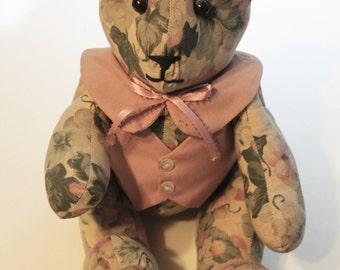 Vintage Floral Handmade Bear