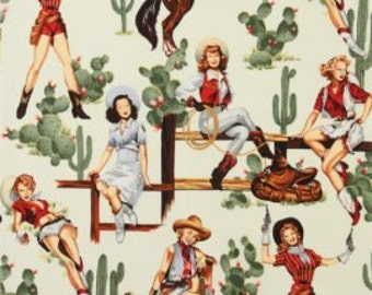 """Alexander Henry """"From the hip"""" Cowgirl fabric"""