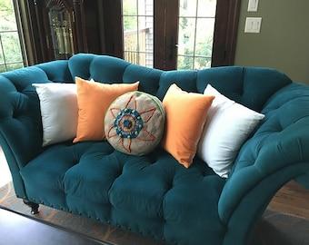 Crochet Pillow Pattern - Round Pillow Crochet Pattern - Textured Pillow Crochet Pattern - Cute Pillow Crochet Pattern