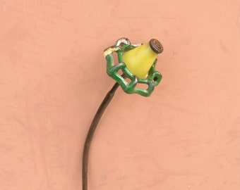 Metal Faucet Flower, Green Junk Flower, Gardener Gift, Metal Art, Garden Stake, Vase Filler, Flower Bouquet, Love Gift, Table Art