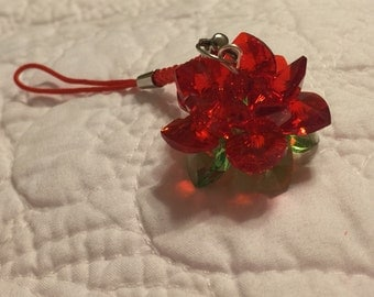 3D Beaded Swarovski Water Lily Phone Strap - Multiple Colors