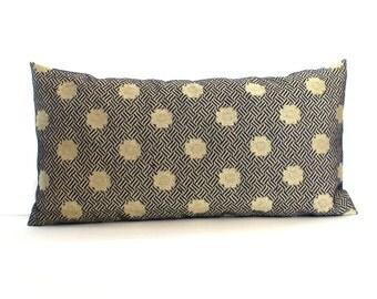 Lumbar Pillow Cover Blue Pillow Decorative Pillow Oblong Medallion Accent Throw Pillow Cover Upholstery Pillow 12x24 12x21 12x18 12x16 10x20