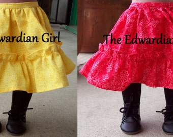 Two of a kind yellow or red victorian era petticoat. Fits 18 inch play dolls such as American Girl, Springfield, OG. Made in USA