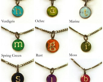 Add an Initial Charm: Painted Initial Pendant