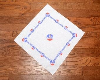 vintage 80s New Jersey Nets bandana NJ Nets bandanna Faberge promo promotional item 1980 vintage NBA kerchief