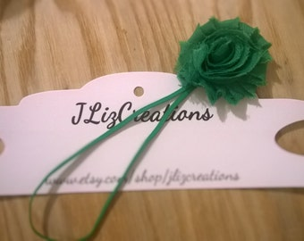 SALE 10% OFF Green infant headband