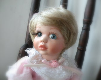 "9"" Peanut Porcelain Doll by Maryse Nicole Franklin Mint"