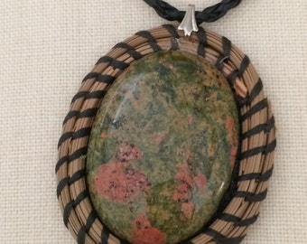 Pine Needle Cabachon Pendent