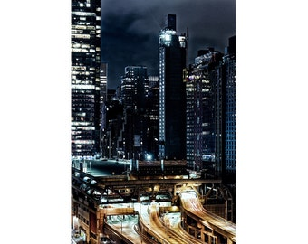 SALE: 25% Off New York City photography, New York skyline, New York at night, travel photography, large photography - Gotham