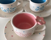 Child's Personalized Tea cup and Saucer