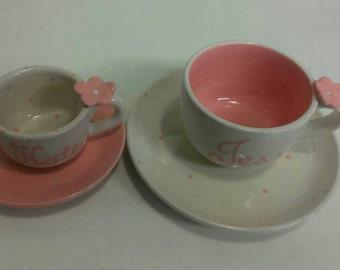 Mother/daughter Teacups