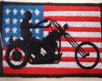 usa biker flag patch