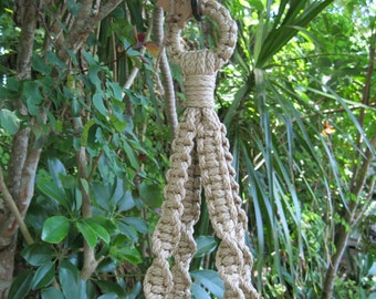 Jute 38 1/2 Inch No Beads Macrame Plant Hanger