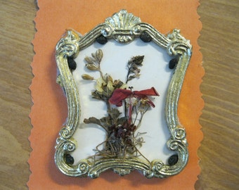 Doll House Miniature Dried Flower Wall Hanging #23