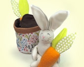 Bunny PDF Pattern, DIY Sewing, Pop up Bunny Toy, Flowerpot, Beginner Sewing Pattern, Bunny Softie