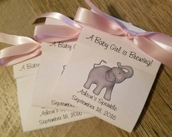 elephant tea bag favors for baby shower tea party favors baby girl boy 1st birthday favors