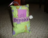 Hold for DB) Tooth Fairy Pillow with tooth holder: Green Tinker Bell