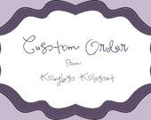 Custom Listing for Jessica Davis