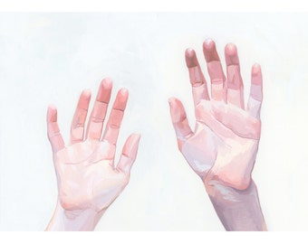 "5x7"" hand art - giclee print - ""Two Hands"""