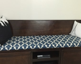 Bench Cushion Window Seat Cushion in Custom Fabric
