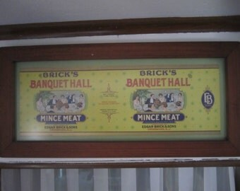 Kitchen Wall Art Dining Room Picture Bricks Banquet Hall Mince Meat Framed Ready to Hang