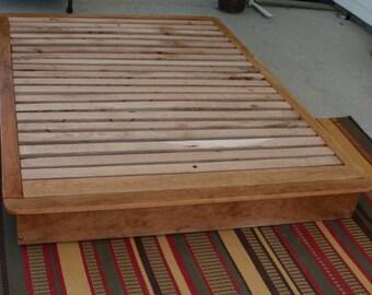 nbfwn01 solid hardwood low platform bed or tatami bed natural color