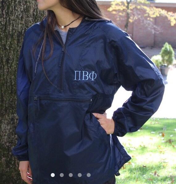 Sorority Rain Jacket Pi Beta Phi Chi Omega Kappa Tri