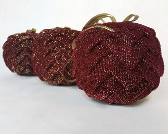 Red Sparkle Christmas Ribbon Ornament