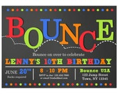 BOUNCE Invitation Printable - Jump, Bounce, Trampoline Birthday - Bounce Love Collection