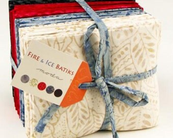SALE MODA Fire and Ice Batik fabric, FaT QuARTER Set, 28 Fat Quarters, SaLE