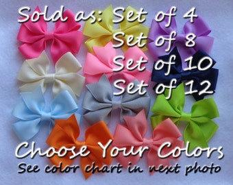 Hair Bows for Girls~Basic Hair Bows~Boutique Hair Bows~Small Hair Bow~Baby Hair Bows~Solid Color Bows~Boutique Bows~School Hair Bows~Hairbow