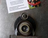 Magnet - Shield - Found Object Decor by Jen Hardwick