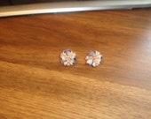 vintage clip on earrings seashells clusters