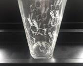 bunny pint glass, beer glass, bunny drink ware, 16oz pint glass, screen printed pint glass
